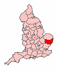 The County of Suffolk, as located in the country of England